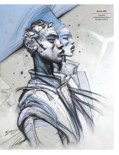 enki bilal Enki Bilal Bd, Caricatures, Book Creator, Bd Comics, Art Graphique, Comic Artist, Science Fiction, Comic Strips, Illustration Art