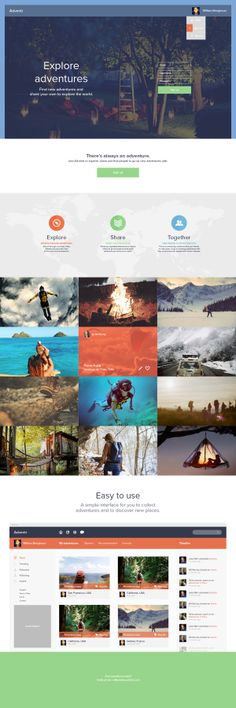 Adventr - a place to discover adventures. by William Bengtsson, via Behance