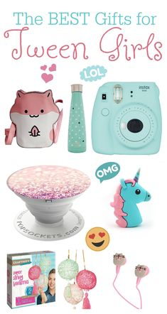 The BEST Gift Ideas for Tween Girls - cute birthday gifts idea 10 yo 11 yo 12 yo