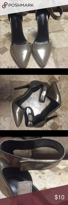 Gold Heels Comfy. Please see strap . Make offer Call It Spring Shoes Heels