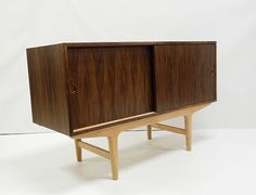 """48"""" Danish Modern Mid Century Style Credenza Sideboard Media Console Cabinet / Custom Made / Small Space Friendly / Apartment Size"""