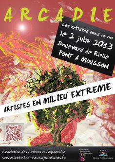 Affiche d'Arcadie 2013 - les artistes dans la rue - http://artistes-mussipontains.fr/arcadie-les-artistes-dans-la-rue.html