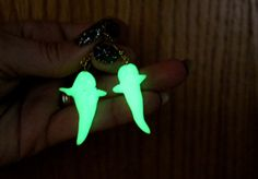 Glow in the Dark Ghost Earrings by SincereCostumes on Etsy, $6.00