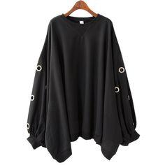Korean Style Solid Color Loose Bat Sleeve Women Sweatshirts 2017 Autumn New Pluz Size Sweatshirts Hollow Ring Cotton Women Tops #Brand #SuperAen #sweaters #women_clothing #stylish_dresses #style #fashion