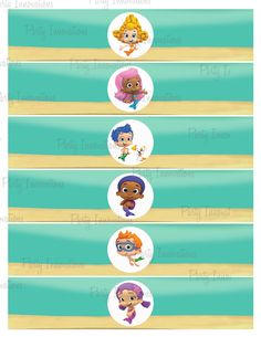 Printable Bubble Guppies Napkin Rings by PartyInnovations09, $5.00
