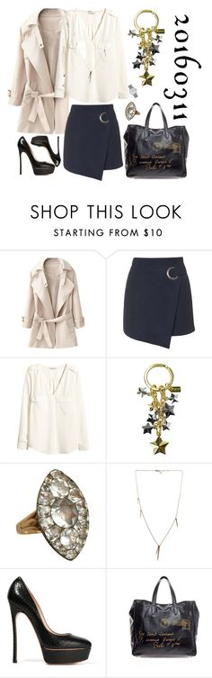 """""""20160311"""" by kakarichoh on Polyvore featuring ファッション, Topshop, H&M, Coach, Olivia Collings Antique Jewelry, Casadei, Yves Saint Laurent と Junghans"""