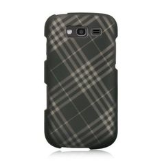 Insten Smoke Checker Hard Snap-on Rubberized Matte Case Cover For Samsung Galaxy S Blaze 4G SGH-T769
