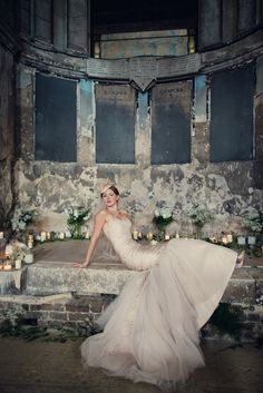 Unusual & dramatic wedding venue choice for this beautiful homemade wedding- a crumbling chapel!