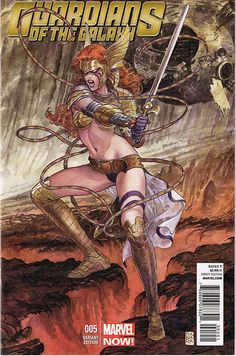 Guardians of the Galaxy #5  The Angela variant cover from Marvel Comics Cover art by Milo Manara