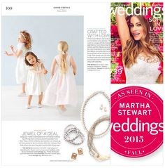 Did you get your Fall Issue of MarthaStewart Wedding yet? It features our pearl necklaces, bracelets and earrings!