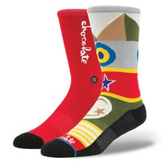 Stance | Chocolate Flags Red socks | Buy at the Official website Stance.com.