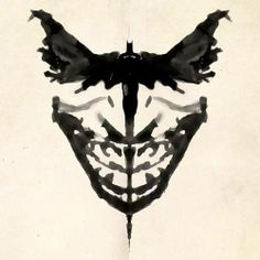 What do you see? I see Batman, Hannibal Lecter's mask & and Joker.