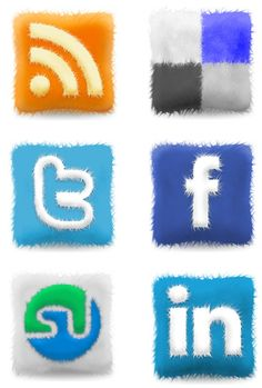 Free Furry Cushions Social Icons Set - noupe