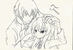 Toradora - Taiga and Ryuuji by Syntry.deviantart.com on @DeviantArt
