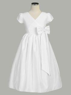simple, yet super cute communion dress for little face