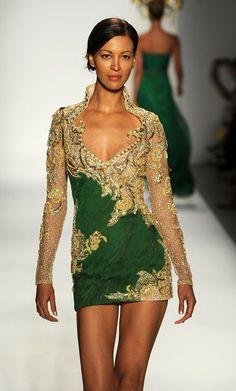 New York Fashion Week Farah Angsana Spring 2011 Mini Dress