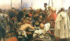 Reply Of The Zaporozhian Cossacks By Ilya Replin - Famous Art - Handmade Oil Painting On Canvas — Canvas Paintings Ilya Repin, Russian Painting, Russian Art, Oil Painting On Canvas, Canvas Art, Most Famous Paintings, Famous Artists, Poster Prints, Art Prints