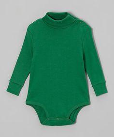 Another great find on #zulily! Green Turtleneck Bodysuit - Infant #zulilyfinds