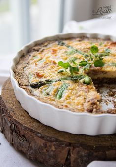 Walnut Quiche With Asparagus - ow Carb