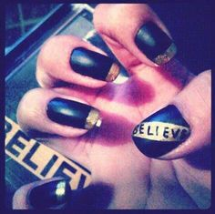 Justin Bieber Believe nails