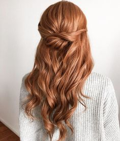 Hairstyles For Layered Hair, Second Day Hairstyles, Wedding Hairstyles Half Up Half Down, Wedding Hair Down, Loose Hairstyles, Formal Hairstyles, Vintage Hairstyles, Up Dos For Medium Hair, Medium Hair Styles