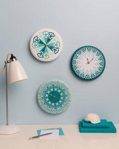 These clocks are super cute! A fun DIY!
