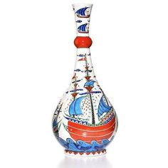 Vase - Iznik Vase | Majestic Galleon Design