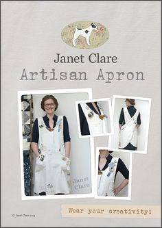 Artisan Apron Pattern - make and embellish your own crossover apron and wear…