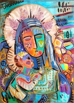 Claudia Talavera Artworks: pintura religiosa, interpretaciones