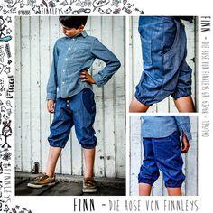 """Nähanleitungen Kind - """"Finn"""" die Sommerhose das Ebook von F... - ein Designerstück von finnleys bei DaWanda"""