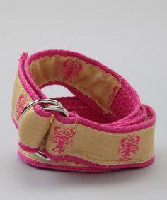 Look at this #zulilyfind! Yellow & Pink Lobster Belt by BEAN BELTS #zulilyfinds