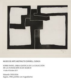 Eduardo Chillida Inguru III, Aquatint mounted on China paper. Plate size: H x W. Sheet size: H x W. Edition of 60 copies. Art Cologne, Graffiti, Abstract Words, Black White Art, Contemporary Abstract Art, Oeuvre D'art, Collage Art, Painting & Drawing, Printmaking