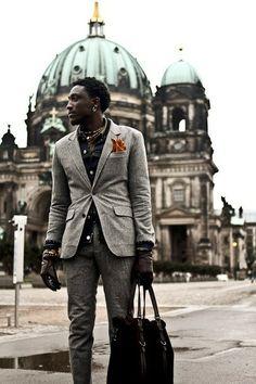 Miss Berlin..!  emrayfo:    Joshua Kissi of Street Etiquette on his visit to Berlin.