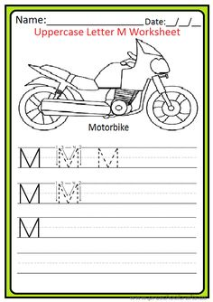 This page has worksheet related to the uppercase letter M . Kindergarteners, preschoolers and firstgraders can use these uppercase letter M worksheets. Letter N Worksheet, Punctuation Worksheets, Free Printable Math Worksheets, 2nd Grade Math Worksheets, Printable Letters, Writing Worksheets, Preschool Worksheets, Preschool Crafts, Printables