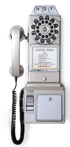 Fun 'Pay Phone' Wall Phone http://rstyle.me/n/qd9fmnyg6