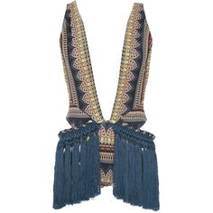 Triya Ethnic Lace Fringe Maillot ($1,800) ❤ liked on Polyvore featuring swimwear, one-piece swimsuits and triya