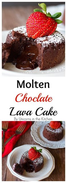 Molten Chocolate Lava Cake   Molten chocolate lava cake for two   Molten Chocolate Lava Cake Easy   Chocolate lava cake   Chocolate lava cake easy   lava cake   lava cake recipe   Easy lava cake recipe   Lava cake for two   Unicornsinthekitchen.com
