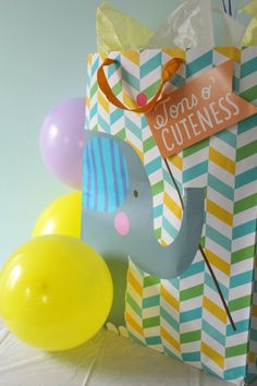 Balloon Time Baby Shower Gender Reveal DIY Idea for s party!