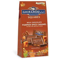 Ghirardelli Halloween Milk Chocolate Pumpkin Spice Caramel Squares 6.3oz…
