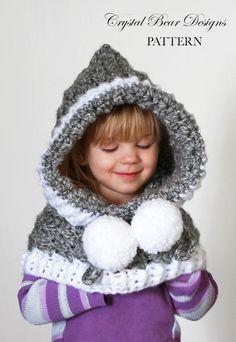 (4) Name   Crocheting   Berkeley Bear Hood Tejidos Para Niñas ba69c0fd739