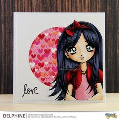 Galleries :: Design Team Inspiration :: Love & Romance :: Friends & Family :: Teenage Girls :: Inspiration Gallery :: Clean & Simple (CAS) :: Return to previous page :: Emily Sitting Politely - Digital & Rubber Stamps for Every Scene - Make it Crafty