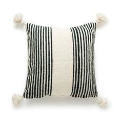 Moroccan Wool Pom Pom CushionGorgeous Woolen Pom Pom cushion covers made by Berber Weavers of the Atlas Mountain Region of Morocco.** Inserts not included **Car