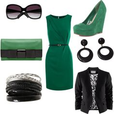 Black and Green, I love this combination!