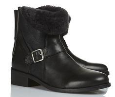 Boots cuir Noir by COMPTOIR DES COTONNIERS