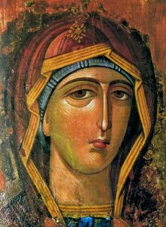 The most beautiful of the icons that appear only face painted Virgin Mary , was in Rhodes , occupied by the Venetians in 1050 . Taken by the Genoese in 1248 , was sold in 1306 Knights of St. John called first order of Rhodes and later Malta . These knights had a basilica built in 1306 it was relocated icon of the Virgin Mary full of grace ,