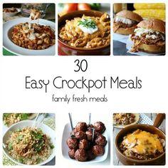 30 easy crockpot meals