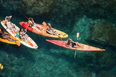 We booked a kayak-snorkel tour in Barcelona
