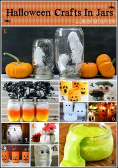 Halloween Craft Ideas … In Mason Jars - Mason Jar Crafts Love (no instructions, just pictures)