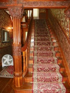 Main stairway at the Physick Estate
