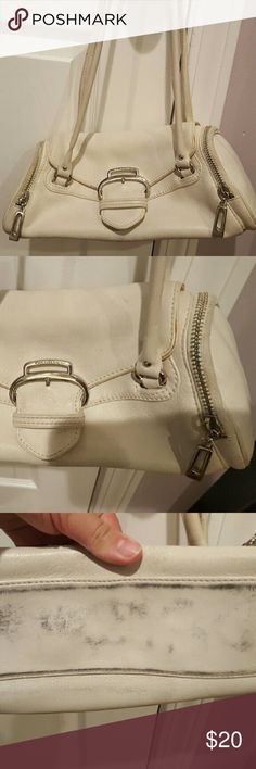 Small White Cole Haan Purse Small White Cole Haan Purse. Used. Needs a good cleaning inside and out. No rips in leather. Authentic. Cole Haan Bags Mini Bags